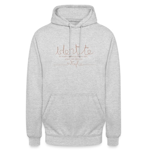 identité - Sweat-shirt à capuche unisexe