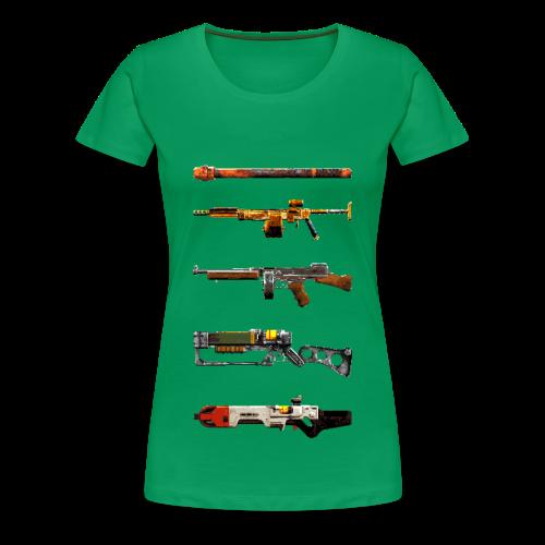 Pixilated Fallout Weapons  - Women's Premium T-Shirt
