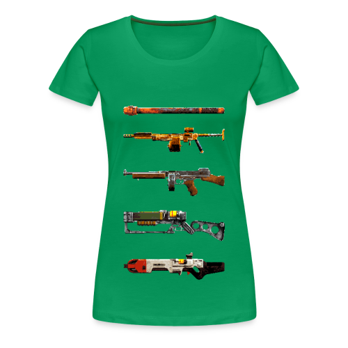 Pixilated Fallout Weapons  - Women's Premium T-Shirt