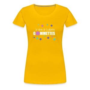 je viens de la planète gommettes - T-shirt Premium Femme