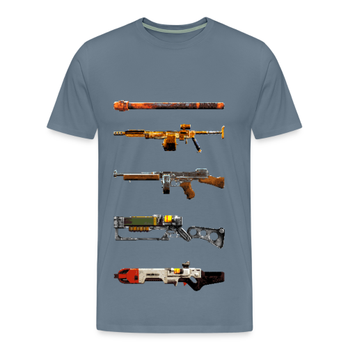 Pixilated Fallout Weapons  - Men's Premium T-Shirt