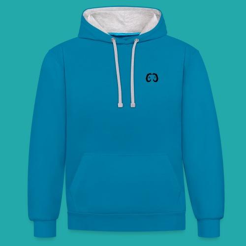 B/G Colour Contrast CC Logo Hoodie - Contrast Colour Hoodie