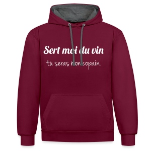 Sweat-shirt contraste