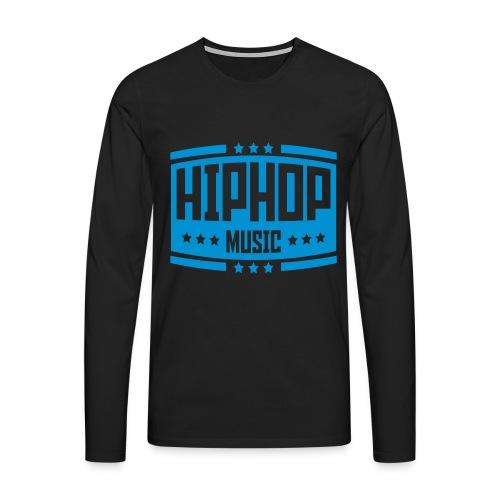 Hip Hop Music  - Männer Premium Langarmshirt