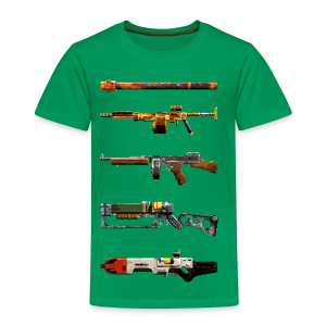 Pixilated Fallout Weapons (Kids) - Kids' Premium T-Shirt