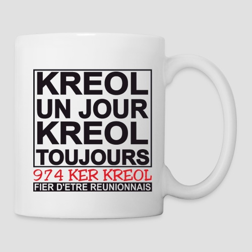 Tasse Kreol un jour, Kreol toujours - Mug blanc