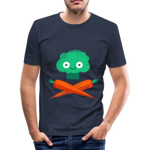 Veggie Pirate - Men's Slim Fit T-Shirt