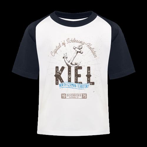 Deichdisko Kinder-T-Shirt Kiel - Kinder Baseball T-Shirt