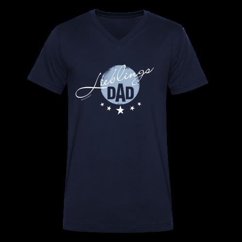 Lieblings DAD - Männer Bio-T-Shirt mit V-Ausschnitt von Stanley & Stella