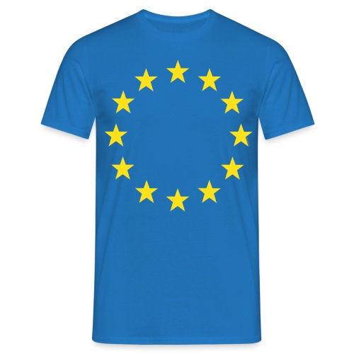 European flag EU referendum StrongerIn [royal blue shirt] - Men's T-Shirt