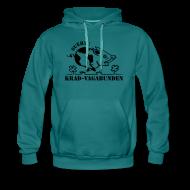 Pullover & Hoodies ~ Männer Premium Kapuzenpullover ~ Kapuzenpulli - Glücksschwein (schwarzer Aufdruck)