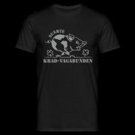 T-Shirts ~ Männer T-Shirt ~ T-Shirt Männer: Glücksschwein (silberner Aufdruck)