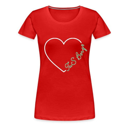 Damenshirt Herz - Frauen Premium T-Shirt
