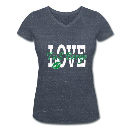 Damenshirt Love - Frauen Bio-T-Shirt mit V-Ausschnitt von Stanley & Stella