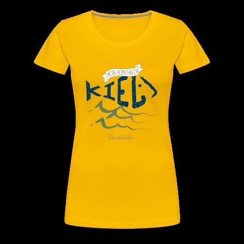 Deichdisko Frauen-Premium-T-Shirt Heimathafen Kiel - Frauen Premium T-Shirt