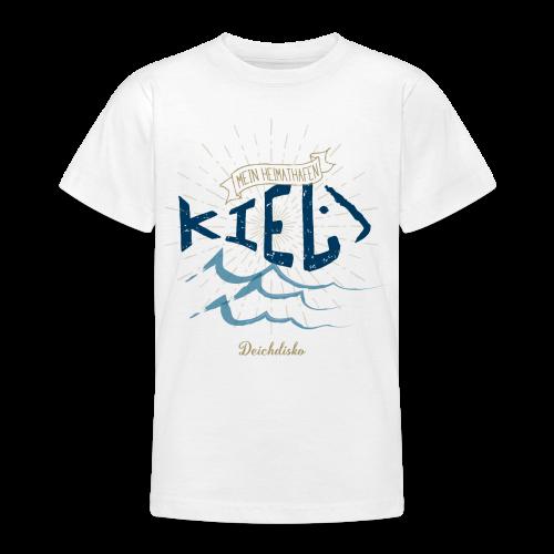Deichdisko Kinder-T-Shirt Heimathafen Kiel - Teenager T-Shirt