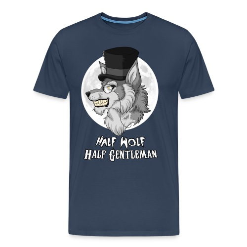 Half Wolf Half Gentleman - Men's Premium T-Shirt - Koszulka męska Premium