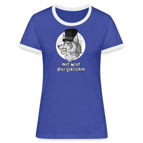 Half Wolf Half Gentleman - Women's Ringer T-Shirt - Koszulka damska z kontrastowymi wstawkami