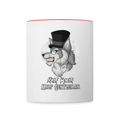 Half Wolf Half Gentleman - Two Colour Mug, ver. 1 - Kubek dwukolorowy