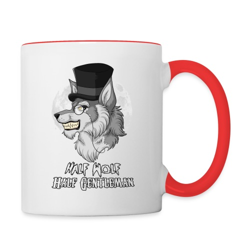Half Wolf Half Gentleman - Two Colour Mug, ver. 2 - Kubek dwukolorowy