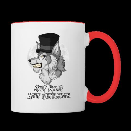 Half Wolf Half Gentleman - Two Colour Mug, ver. 2 - Contrasting Mug