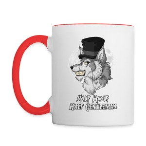 Half Wolf Half Gentleman - Two Colour Mug, ver. 3 - Kubek dwukolorowy