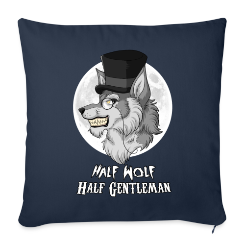 Half Wolf Half Gentleman - 44x44 cm Sofa Pillow Cover - Sofa pillow cover 44 x 44 cm