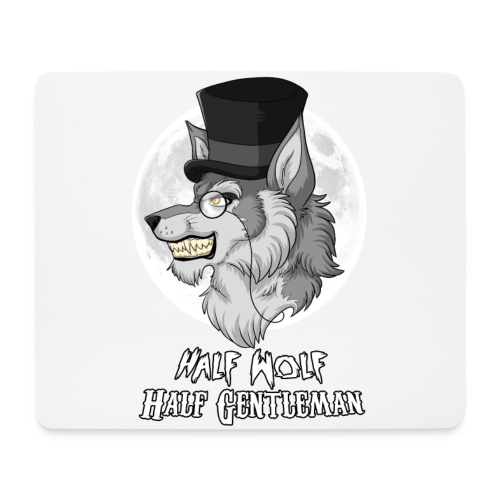 Half Wolf Half Gentleman - Horizontal Mousepad - Mouse Pad (horizontal)