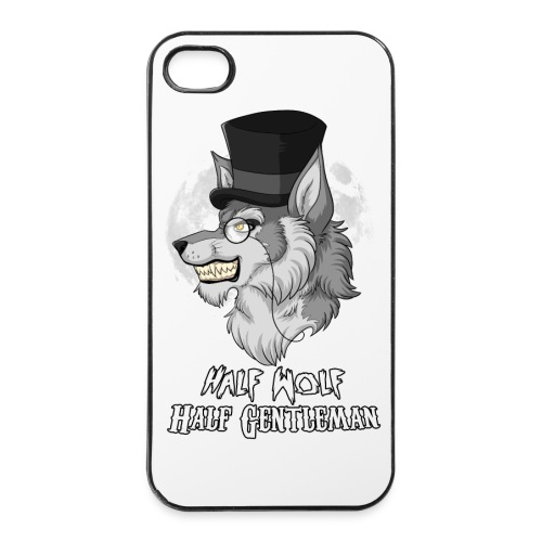 Half Wolf Half Gentleman - iPhone 4/4s Hard Case - Twarde etui na iPhone 4/4s