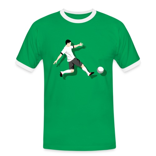Herren T-Shirt Kick it! - Männer Kontrast-T-Shirt
