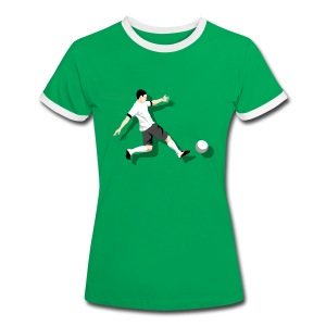 Damen T-Shirt Kick it! - Frauen Kontrast-T-Shirt