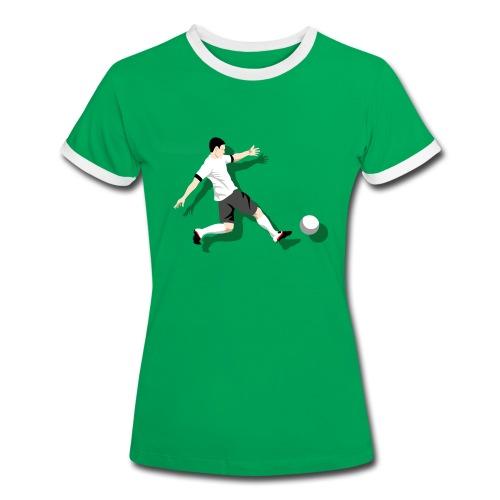Damen T-Shirt Kick it! - Frauen Kontrast-T-Shirt