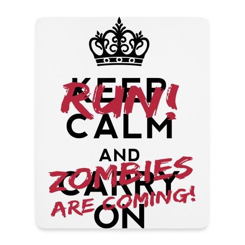 Tapis de souris (Run Zombie are coming !) - Tapis de souris (format portrait)