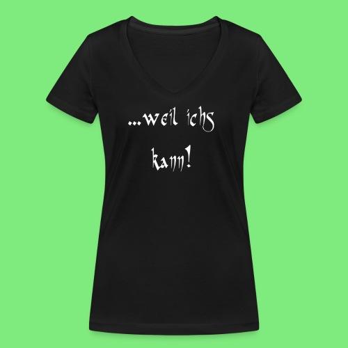 ...weil ichs kann! Schafi - T-Shirt Frauen - Frauen Bio-T-Shirt mit V-Ausschnitt von Stanley & Stella