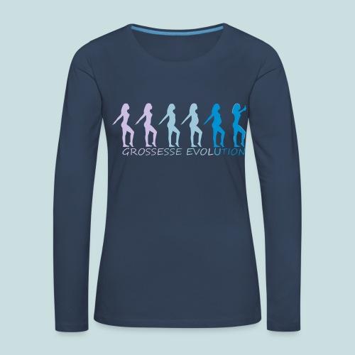 grossesse evolution - T-shirt manches longues Premium Femme