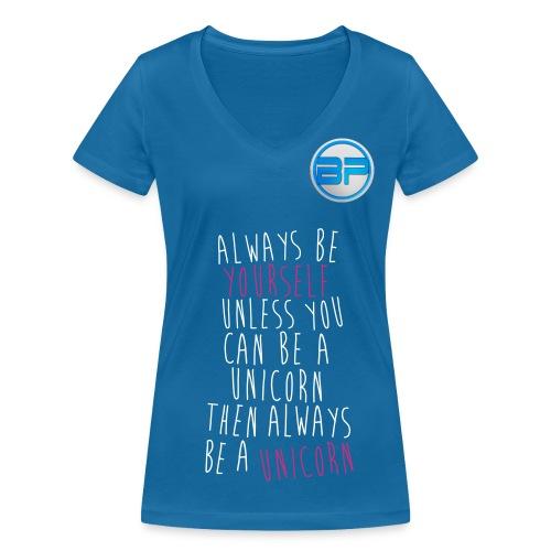 blue ladies benji pinch - Women's Organic V-Neck T-Shirt by Stanley & Stella