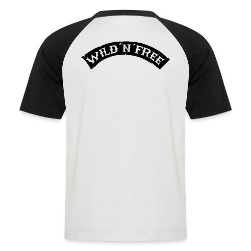Baseball Shirt Schwarz/Weiss Logo - Männer Baseball-T-Shirt
