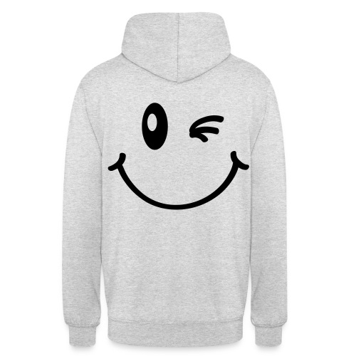 Pull Smiley - Sweat-shirt à capuche unisexe