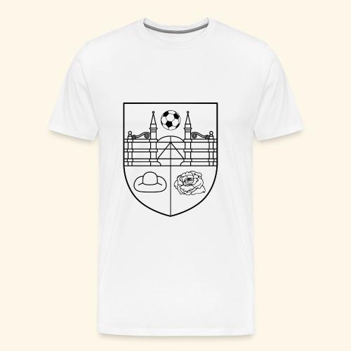 SV Wieckenberg Fußball (Wappen, schwarz) - Männer Premium T-Shirt