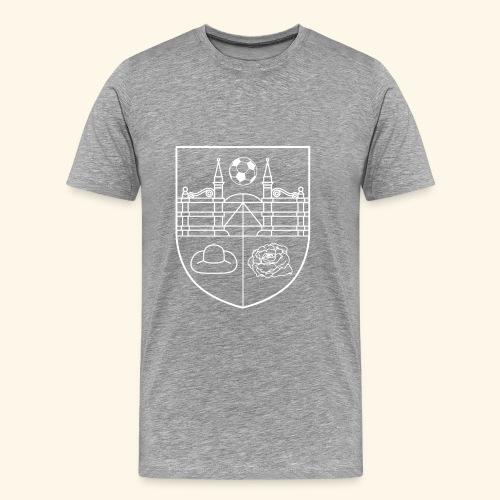 SV Wieckenberg Fußball (Wappen, weiß) - Männer Premium T-Shirt