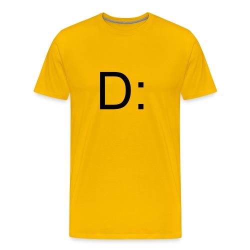 D: T-Shirt Gelb - Männer Premium T-Shirt