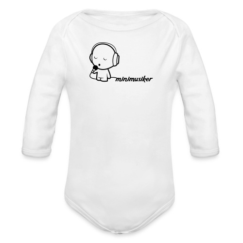 Minimusiker Body (langarm) - Baby Bio-Langarm-Body