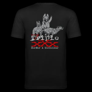Triple x-herder und mechelaar - Männer Slim Fit T-Shirt