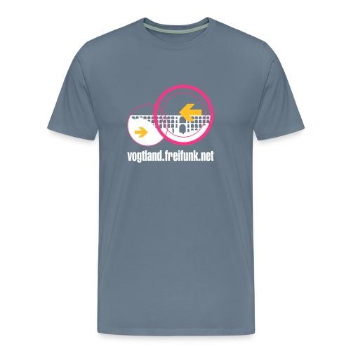 Freifunk Vogtland (hell) - Männer Premium T-Shirt