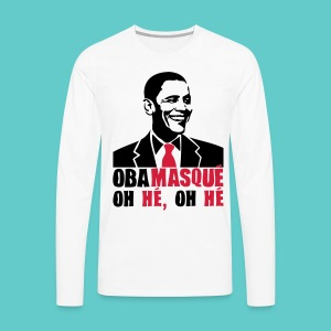 Tshirt Obama Homme Long - T-shirt manches longues Premium Homme