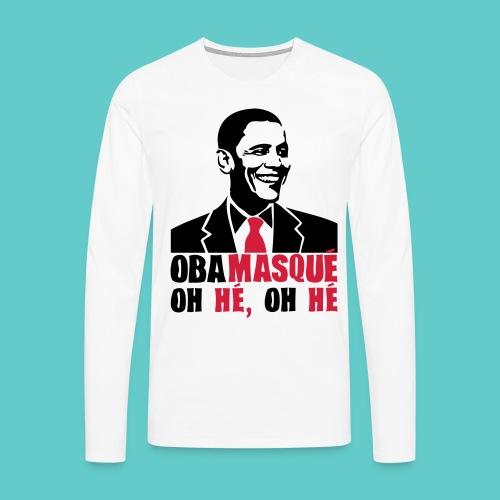 Tshirt Obama Homme Long - T-shirt manches longues Premium Homme