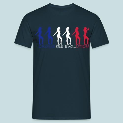 tee shirt evolution grossesse BleuBlancRouge - T-shirt Homme