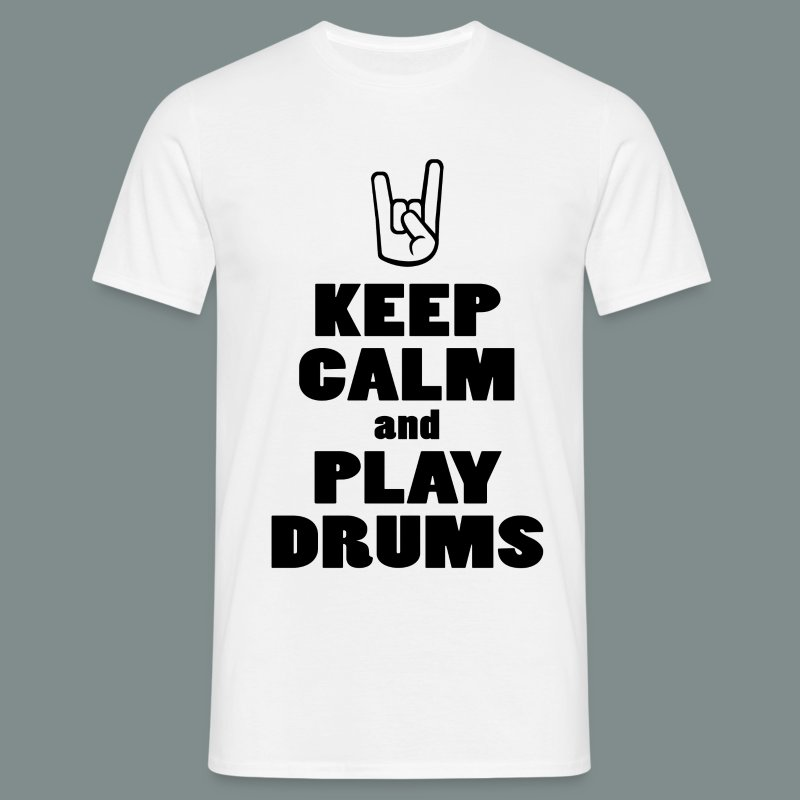 Keep calm and play drums - T-shirt Homme