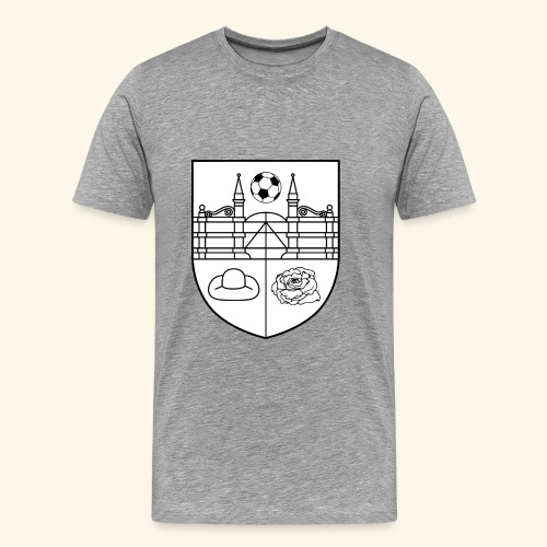 SV Wieckenberg Fußball (Wappen, schwarz/weiß) - Männer Premium T-Shirt