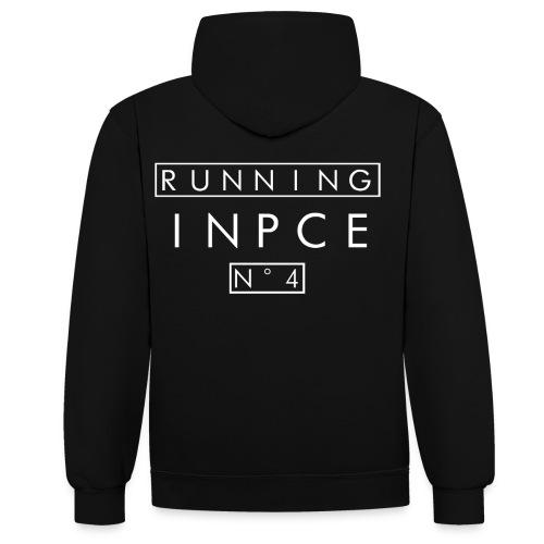 Black Running N°4 - Kontrast-Hoodie